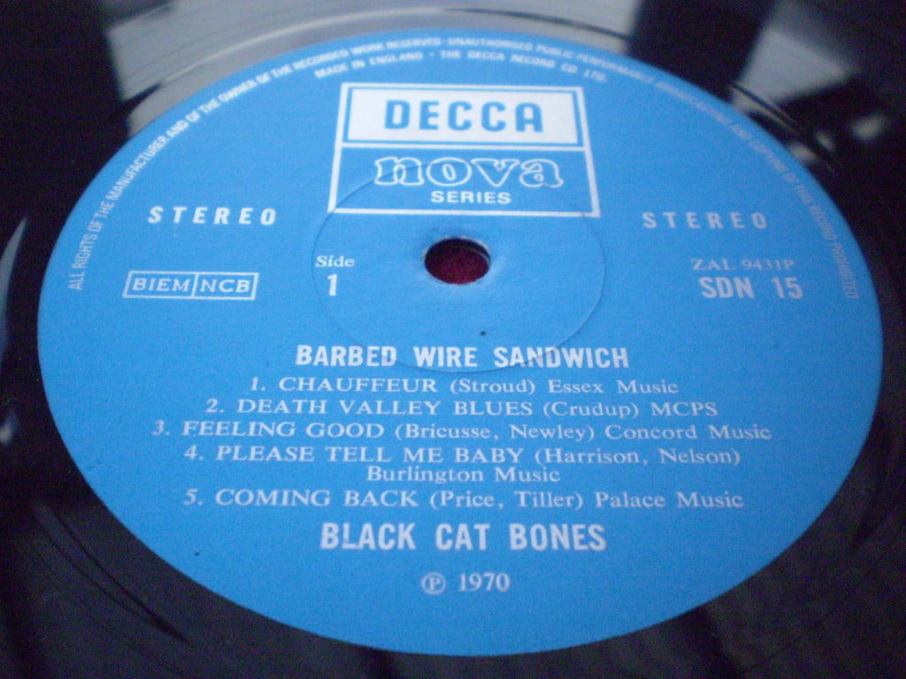 Black Cat Bones - Barbed Wire Sandwich LP