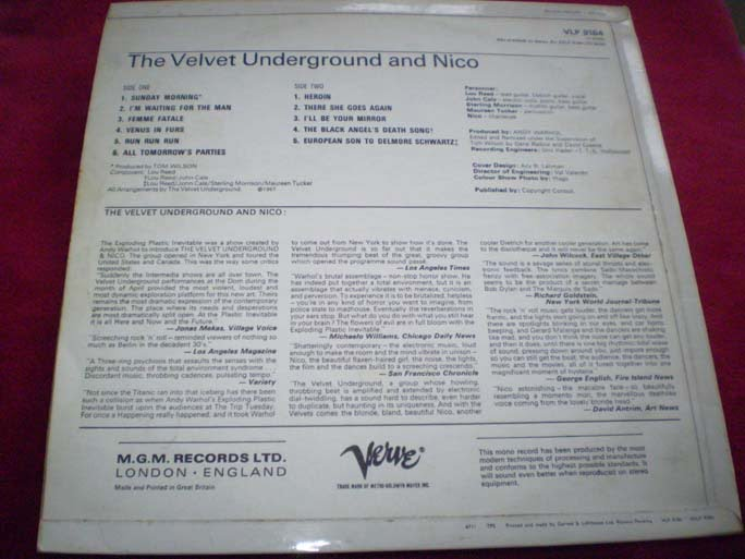 The Velvet Underground and Nico LP