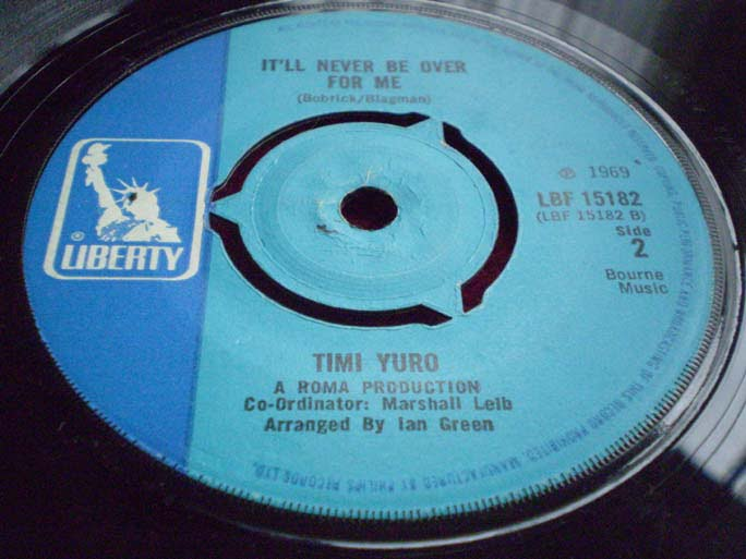 Timi Yuro - It'll Never Be Over For Me 45