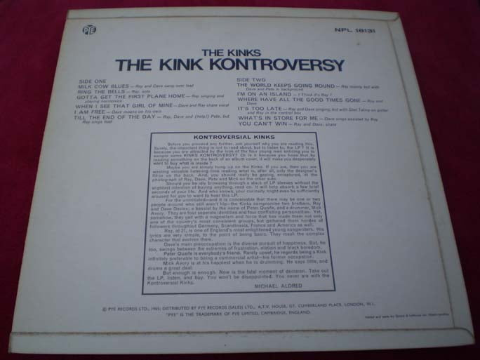 The Kinks - The Kink Kontroversy LP
